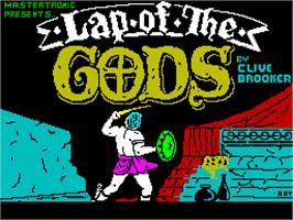 Title screen of Lap of the Gods on the Sinclair ZX Spectrum.