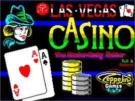 Title screen of Las Vegas Video Poker on the Sinclair ZX Spectrum.