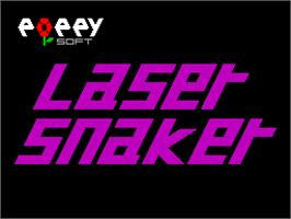 Title screen of Laser Snaker on the Sinclair ZX Spectrum.
