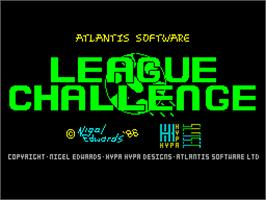 Title screen of League Challenge on the Sinclair ZX Spectrum.