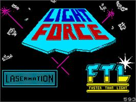 Title screen of Lightforce on the Sinclair ZX Spectrum.