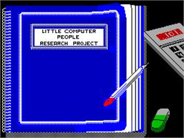 Title screen of Little Computer People on the Sinclair ZX Spectrum.