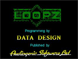 Title screen of Loopz on the Sinclair ZX Spectrum.