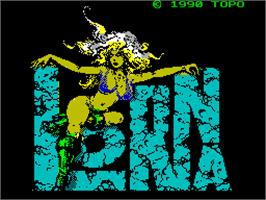 Title screen of Lorna on the Sinclair ZX Spectrum.