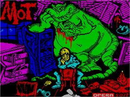 Title screen of MOT on the Sinclair ZX Spectrum.
