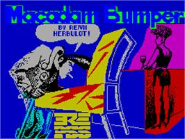 Title screen of Macadam Bumper on the Sinclair ZX Spectrum.