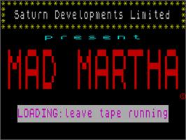 Title screen of Mad Martha on the Sinclair ZX Spectrum.