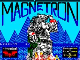 Title screen of Magnetron on the Sinclair ZX Spectrum.