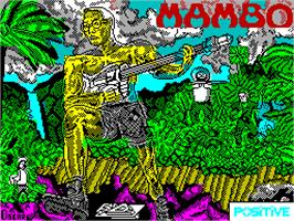 Title screen of Mambo on the Sinclair ZX Spectrum.