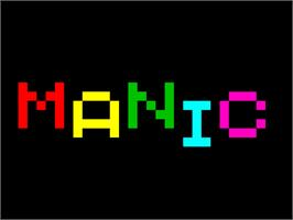 Title screen of Manic Miner on the Sinclair ZX Spectrum.
