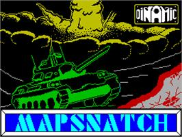 Title screen of Mapsnatch on the Sinclair ZX Spectrum.