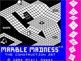 Title screen of Marble Madness Construction Set on the Sinclair ZX Spectrum.