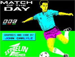 Title screen of Match of the Day on the Sinclair ZX Spectrum.