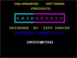 Title screen of Matrix: Gridrunner 2 on the Sinclair ZX Spectrum.