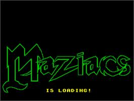 Title screen of Maziacs on the Sinclair ZX Spectrum.