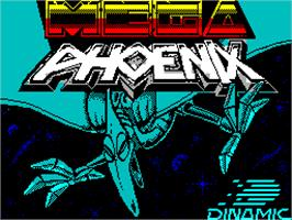Title screen of Mega Phoenix on the Sinclair ZX Spectrum.