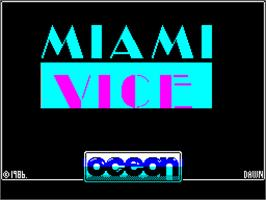 Title screen of Miami Vice on the Sinclair ZX Spectrum.