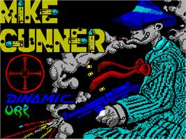 Title screen of Mike Gunner on the Sinclair ZX Spectrum.
