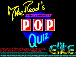 Title screen of Mike Read's Computer Pop Quiz on the Sinclair ZX Spectrum.