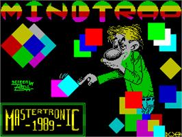 Title screen of Mindtrap on the Sinclair ZX Spectrum.