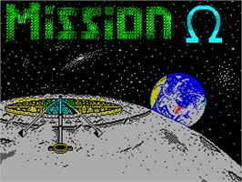 Title screen of Mission Omega on the Sinclair ZX Spectrum.