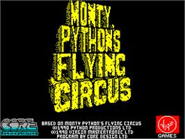Title screen of Monty Python's Flying Circus on the Sinclair ZX Spectrum.