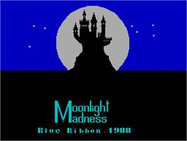Title screen of Moonlight Madness on the Sinclair ZX Spectrum.
