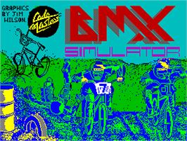 Title screen of Moto X Simulator on the Sinclair ZX Spectrum.