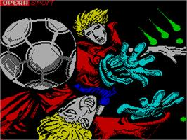 Title screen of Mundial de Fútbol on the Sinclair ZX Spectrum.