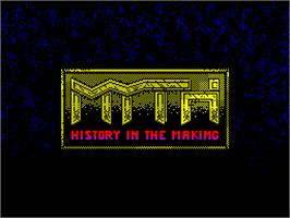 Title screen of Myth: History in the Making on the Sinclair ZX Spectrum.