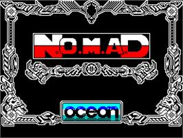 Title screen of N.O.M.A.D. on the Sinclair ZX Spectrum.