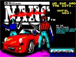 Title screen of NARC on the Sinclair ZX Spectrum.