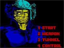 Title screen of Narco Police on the Sinclair ZX Spectrum.