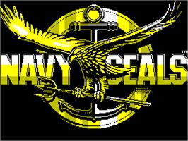 Title screen of Navy Seals on the Sinclair ZX Spectrum.