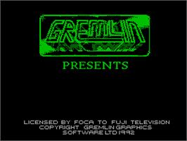 Title screen of Nigel Mansell's World Championship on the Sinclair ZX Spectrum.