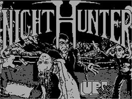 Title screen of NightHunter on the Sinclair ZX Spectrum.