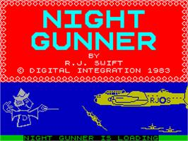 Title screen of Night Gunner on the Sinclair ZX Spectrum.