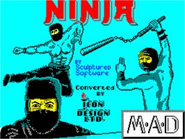 Title screen of Ninja on the Sinclair ZX Spectrum.