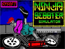 Title screen of Ninja Scooter Simulator on the Sinclair ZX Spectrum.