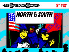 Title screen of North & South on the Sinclair ZX Spectrum.