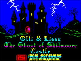 Title screen of Olli & Lissa: The Ghost of Shilmore Castle on the Sinclair ZX Spectrum.
