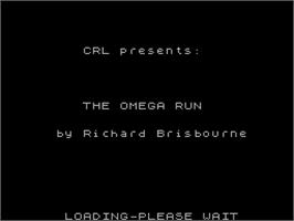 Title screen of Omega Run on the Sinclair ZX Spectrum.