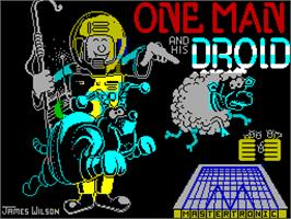 Title screen of One Man and His Droid on the Sinclair ZX Spectrum.