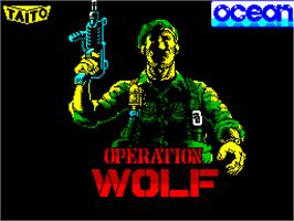 Title screen of Operation Wolf on the Sinclair ZX Spectrum.
