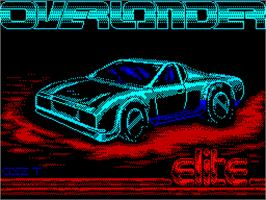 Title screen of Overlander on the Sinclair ZX Spectrum.