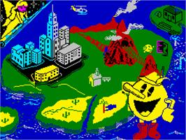 Title screen of Pac-Land on the Sinclair ZX Spectrum.