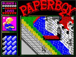 Title screen of Paperboy 2 on the Sinclair ZX Spectrum.