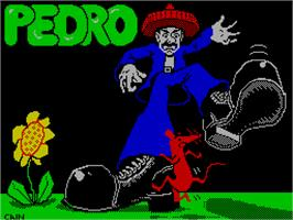 Title screen of Pedro on the Sinclair ZX Spectrum.