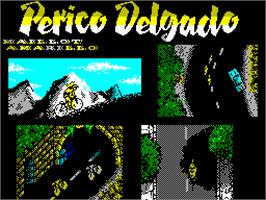 Title screen of Perico Delgado Maillot Amarillo on the Sinclair ZX Spectrum.