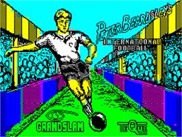 Title screen of Peter Beardsley's International Football on the Sinclair ZX Spectrum.